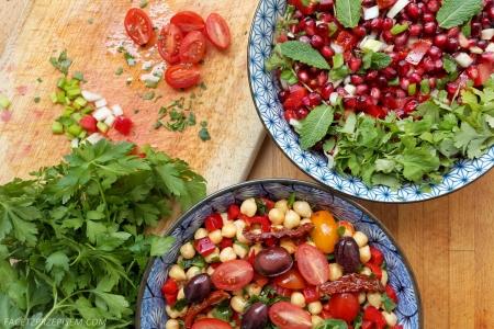 Sałatka z granatów i pomidorów