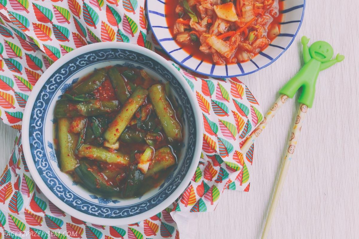 Kimchi z ogórków (Oi Kimchi, 오이 김치), czyli kiszone ogórki, po koreańsku