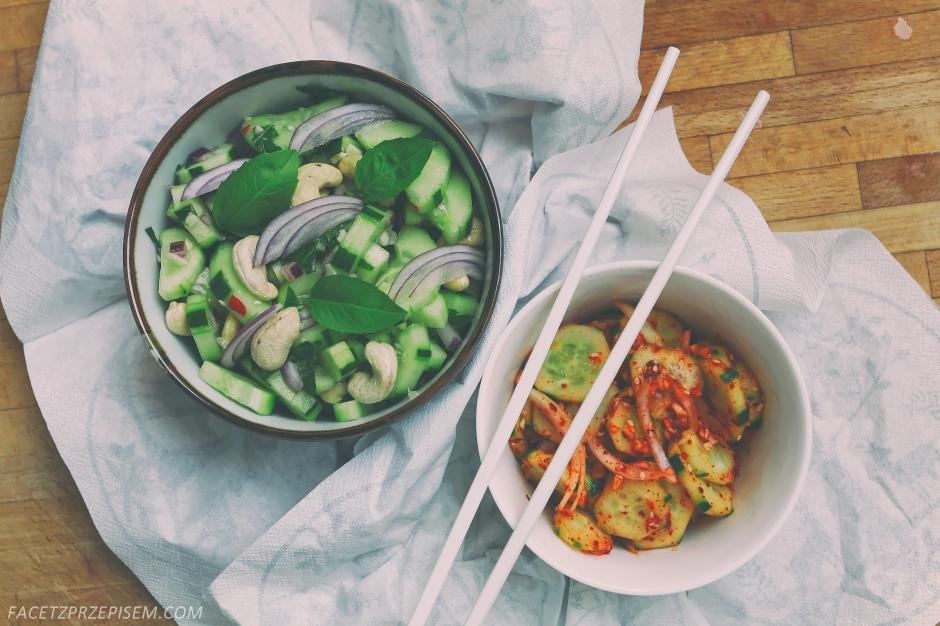 Tajska sałatka z ogórkiem i orzechami
